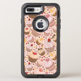 祝いのカップケーキからのパターン オッターボックスディフェンダーiPhone 8 PLUS/7 PLUSケース