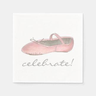 祝って下さい! バレリーナのバレエのダンスの演奏会の誕生日 スタンダードカクテルナプキン
