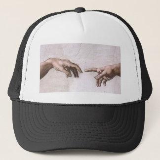 神およびアダムの作成-ミケランジェロの手 キャップ