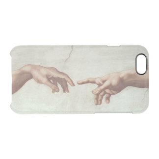 神およびアダムの手 クリアiPhone 6/6Sケース