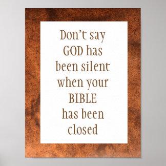 神がアイザイアのずっと静かな55:11であることを言わないで下さい ポスター