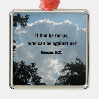 神が私達のため…ならロマンの8:31 メタルオーナメント