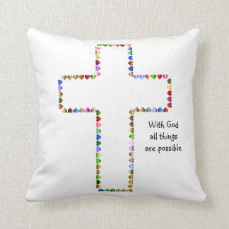 神ですべての事は可能な枕です クッション