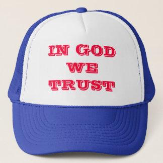 神で私達は信頼します キャップ