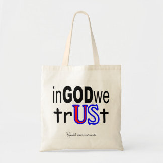 神で私達は信頼します トートバッグ