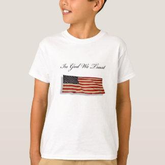 神で私達は信頼します Tシャツ