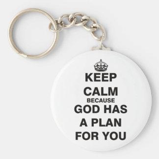神にあなたのための計画があるので平静を保って下さい キーホルダー
