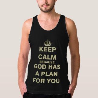 神にあなたのための計画があるので平静を保って下さい タンクトップ