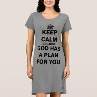 神にあなたのための計画があるので平静を保って下さい ドレス