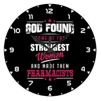 神によってなされる薬剤師の笑わされるな専門職のデザイン ラージ壁時計