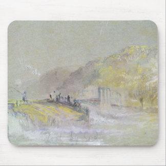 神によって汚れた: チョウチンアンコウとの川の景色 マウスパッド