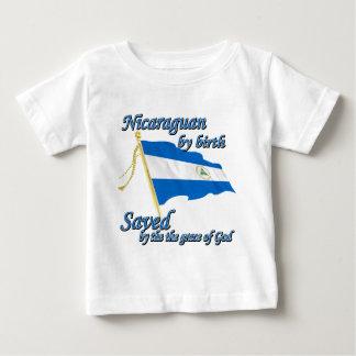 神のお陰で救われる誕生によるニカラグア人 ベビーTシャツ
