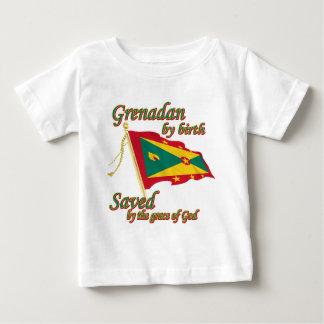神のお陰で救われる誕生によるGrenadan ベビーTシャツ