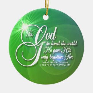 神のため従って世界の円形のオーナメント愛される セラミックオーナメント