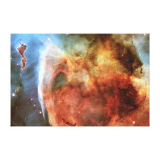 神のカリーナの星雲の鍵穴の星雲の中指 キャンバスプリント