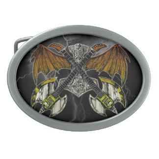 神のギターのトールのハンマー 卵形バックル