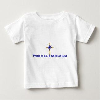 神のクリスチャンの子供 ベビーTシャツ
