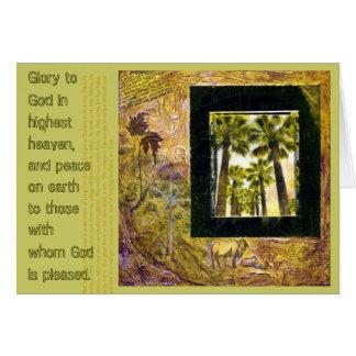 神のクリスマスカードへの栄光 カード