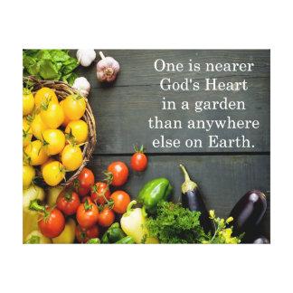 神のハートの庭の引用文 キャンバスプリント