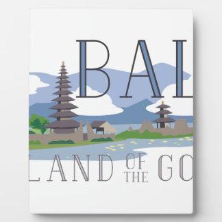 神のバリ島の島 フォトプラーク