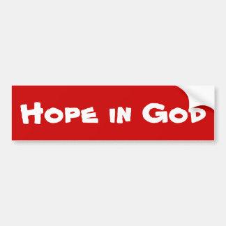 神のバンパーステッカーの希望 バンパーステッカー