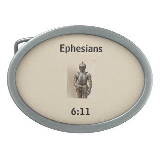 神のベルトの留め金w/Armourの装甲 卵形バックル