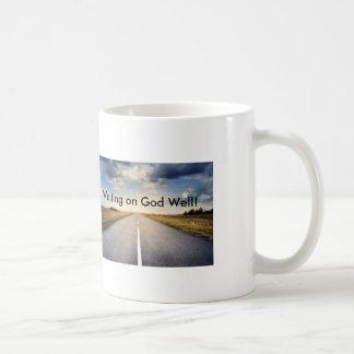 神の井戸で待っていることは道のコーヒー・マグを開けます コーヒーマグカップ