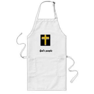 神の人々の引用のキリスト教の十字のエプロン ロングエプロン