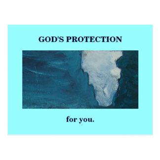 神の保護 ポストカード