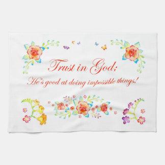 神の信頼 キッチンタオル