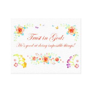 神の信頼 キャンバスプリント