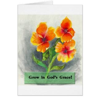 神の優美で育てて下さい カード
