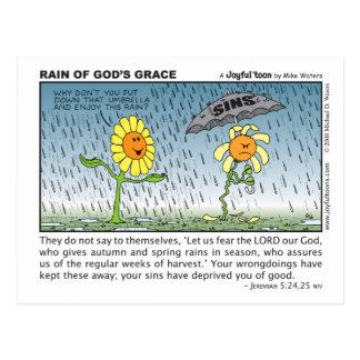 神の優美の郵便はがきの雨 ポストカード
