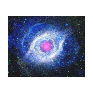 神の宇宙の写真の螺旋形の星雲の紫外目 キャンバスプリント
