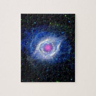 神の宇宙の写真の螺旋形の星雲の紫外目 ジグソーパズル