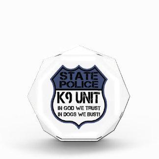神の州の警察K9の単位私達はモットーを信頼します 表彰盾
