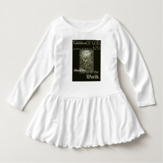 神の幼児の長袖のひだの服の子供 ドレス