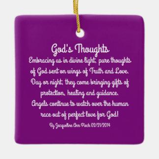 神の思考の詩歌 セラミックオーナメント
