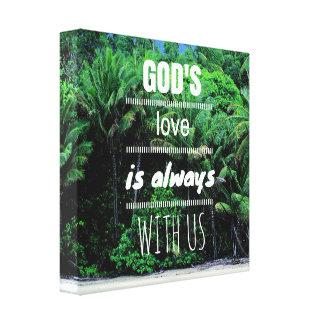 神の愛は私達とキャンバスのプリント常にです キャンバスプリント