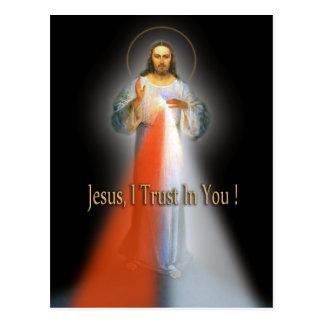 神の慈悲のイメージ ポストカード