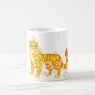 神の火のトラのクラシックで白いマグ コーヒーマグカップ