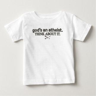 神の無神論者。 それについて考えて下さい ベビーTシャツ