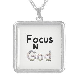 神の焦点 シルバープレートネックレス