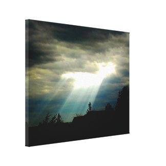 神の目の太陽光線のキャンバス キャンバスプリント
