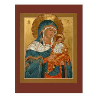 神の祈りの言葉カードのKonevitsaの母 ポストカード