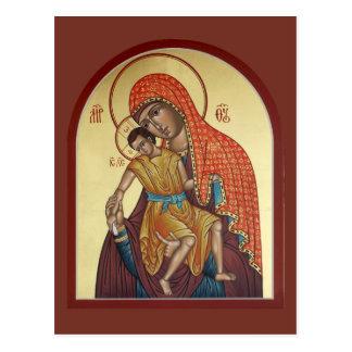 神の祈りの言葉カードのKykkosの母 ポストカード