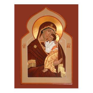 神の祈りの言葉カードのYaroslavlの母 ポストカード