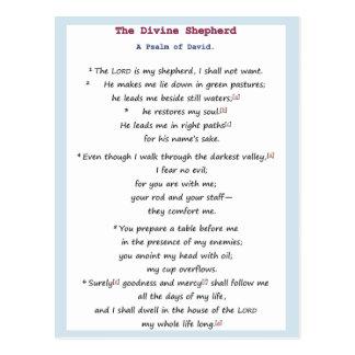 神の羊飼い-デイヴィッドの賛美歌 ポストカード