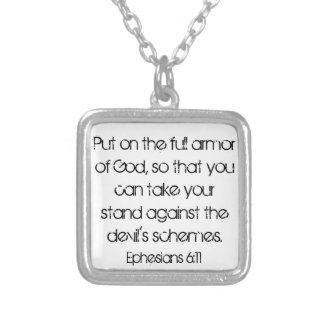 神の聖書の詩のEphesiansのネックレスの完全な装甲 シルバープレートネックレス
