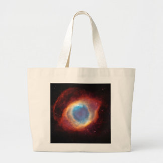 神の螺旋形の星雲のキャンバスの買い物袋の目 ラージトートバッグ
